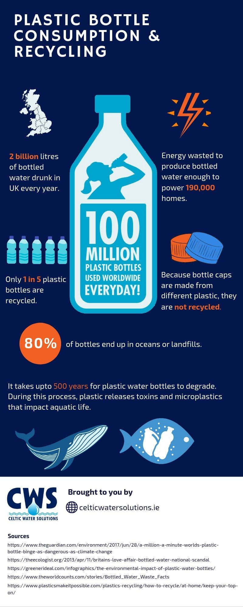 plastic consumption and recycling infographic