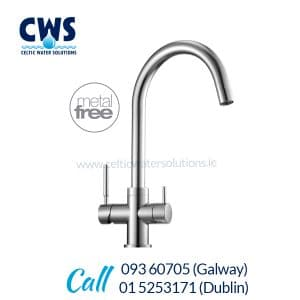 Puricom Sigma Metal Free Tri-Flow Tap - Shiny Chrome