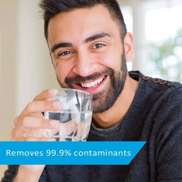 removes contaminants from water