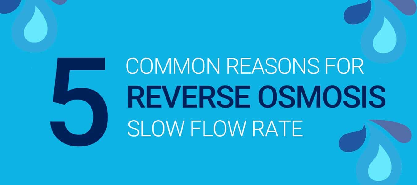 Experiencing Slow Flow Rate from Reverse Osmosis System? Here's Why.